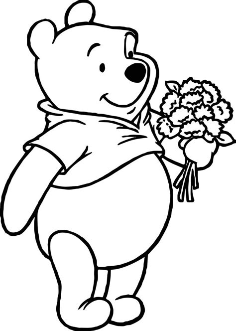 winnie  pooh coloring pages flower coloring pages