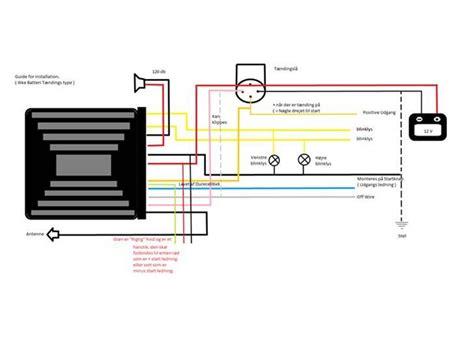 Ga Scooter Diagram by Thor Alarm Diagram Rettet Og Oversat Guider