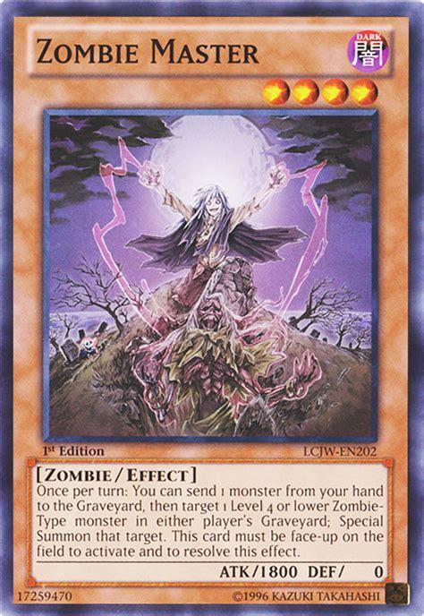 yugioh zombie master zombies deck vampire dark maestro yu gi oh 1e lcjw mega des maitre 1x reddit