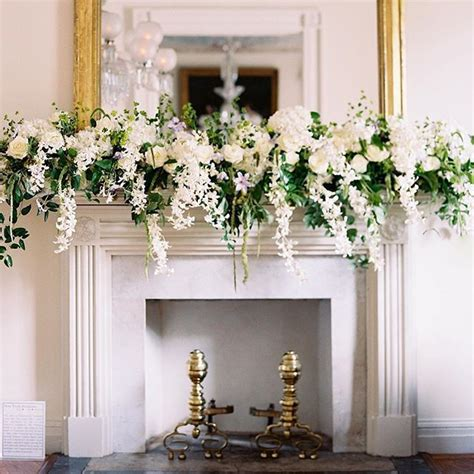 fireplace garlands best 25 wedding fireplace decorations ideas on