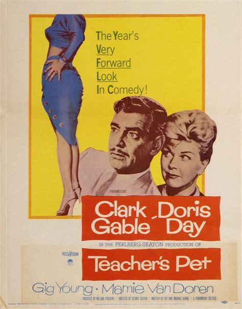 Teacher's Pet, 1958 ****  50's Movie Posters  Pinterest  Teaching, Pets And Teachers Pet