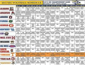 Tennessee Vols Football Schedule 2015