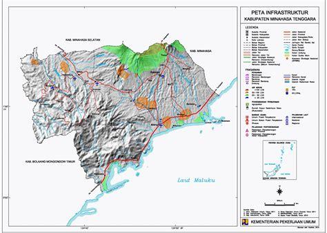 peta kota peta kabupaten minahasa tenggara