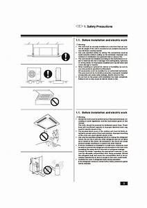 Mitsubishi Mr Slim Bg79s983h01 Plh 2 2 5kkc Ceiling Cassette Air Conditioner Installation Manual