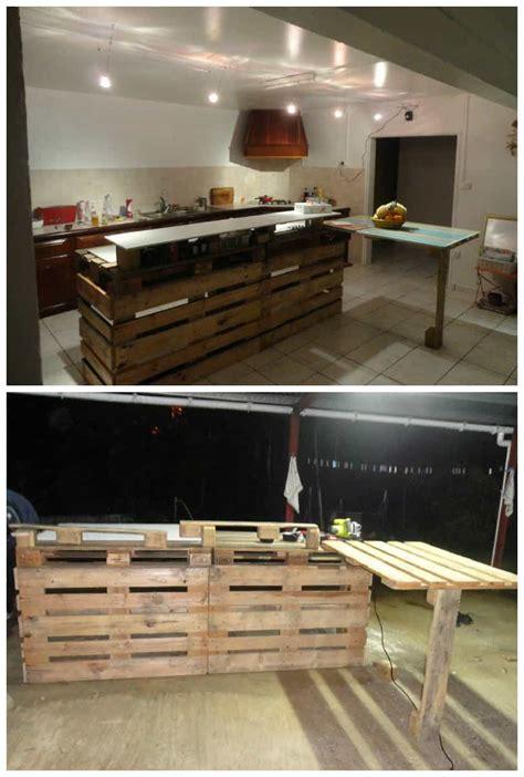 pallet kitchen countertop  pallets