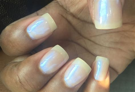 French Nail With A Touch Of Sation Cotton Candy