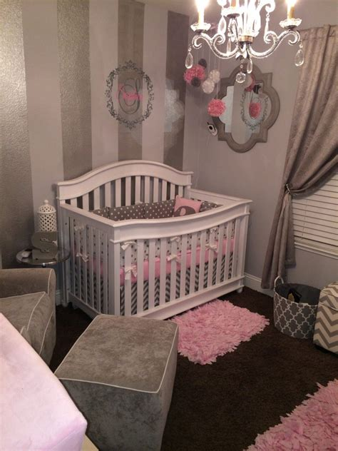grey and white crib gray white and pink nursery project nursery