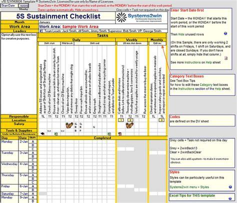 preventive maintenance checklist template  images