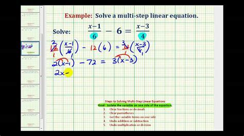 ex 2 solve an equation with fractions with variable terms