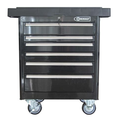 shop kobalt 35 7 in x 27 in 6 drawer ball bearing steel