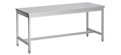 table de cuisine inox table démontable pieds carrés centrale p 700 mm stl