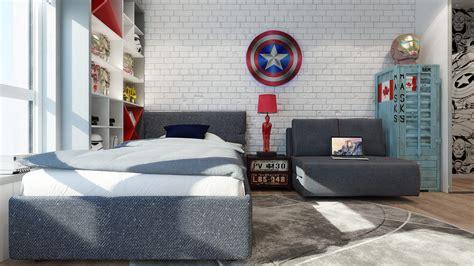 chambre marvel chambre pour garçon thème héros marvel picslovin