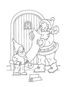 ausmalbild weihnachtsmann liest briefe von den kindern