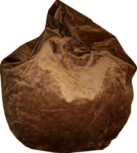 brown suede microfiber bean bag chair