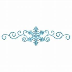 Free coloring pages of snowflake border