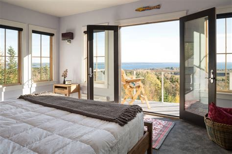 master bedroom   balcony transitional bedroom