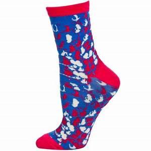 Wild Thing Women s Neon Crew Socks 1 Pair Blue Pink