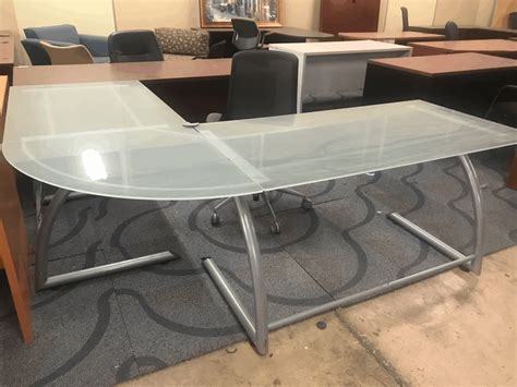 Product Of The Week A Desk L With A Mid Air Suspended Switch by Modern Glass L Shaped Desk Direct Office Solutions