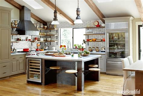 napa kitchen island mix and chic a rustic industrial kitchen in napa valley