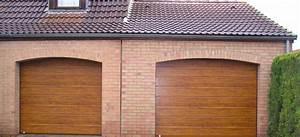 Porte De Garage Bois : porte de garage sectionnelle imitation bois pvc express ~ Melissatoandfro.com Idées de Décoration