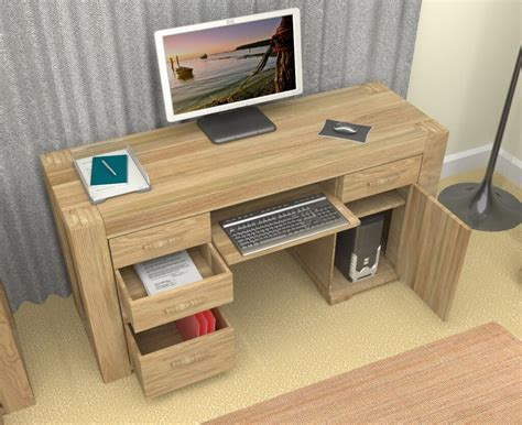 bureau 120x60 10 oak computer desk design ideas minimalist