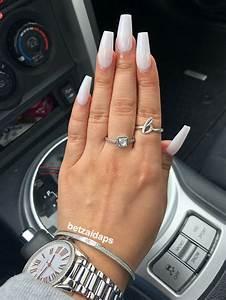 soft white coffin nail acrylic coffinshape white