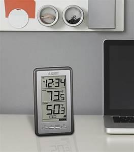 Digital Thermometer Clock Indoor Outdoor Temperature