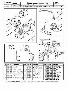 Husqvarna 136 141 Chainsaw Parts Manual