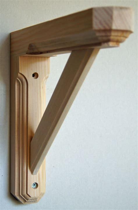 wooden shelf brackets solid pine wood wall shelf bracket hexagonal ends