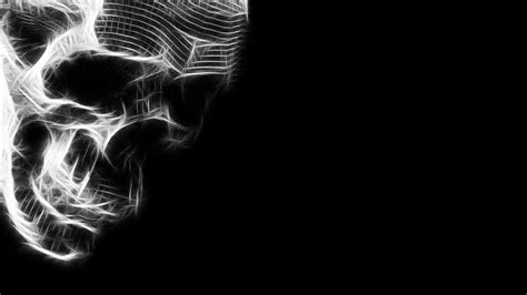 Black Skulls 3d Wallpapers by Black And White Skull Hd Wallpaper 3d And Abstract