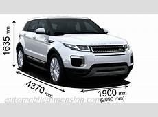 LandRover Range Rover Evoque 2015 dimensions, boot space