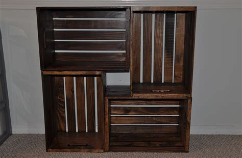 Wooden Crate Bookcase