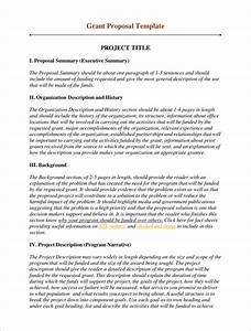grant proposal template 2 foundation grants pinterest With how to write a grant letter for small business