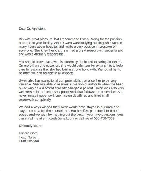 letter of recommendation for nursing school 10 sle school recommendation letters sle templates