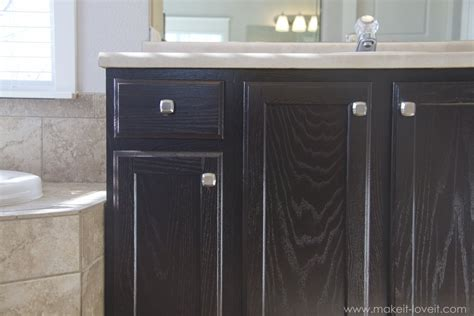 Restaining Oak Cabinets Grey by Remodelaholic Diy Refinished And Painted Cabinet Reviews