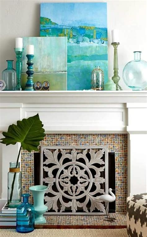 ideas  decorating  fireplace mantle modern