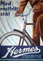 original vintage poster hermes bicycle  sale