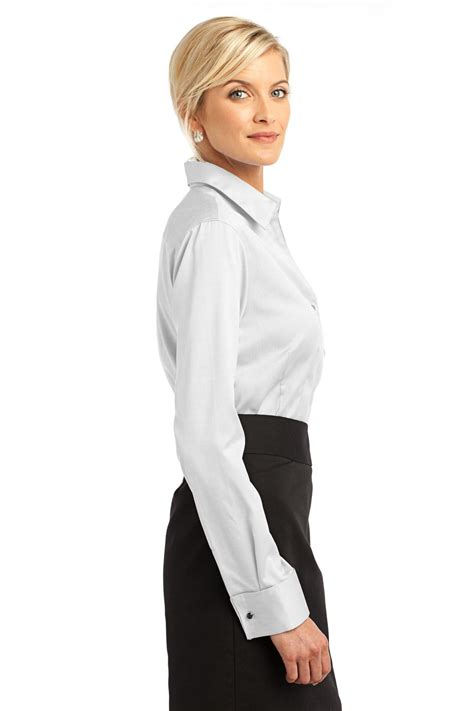womens oxford blouses house rh63 cuff non iron pinpoint oxford