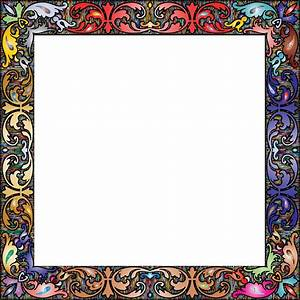 Clipart - Fancy Vintage Square Frame 2 Prismatic