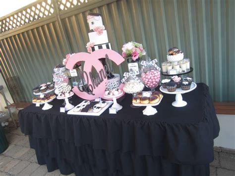 sweet sixteen dessert table chanel sweet sixteen dessert table wedding party ideas