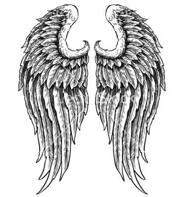 Hand Drawn Angel Wings