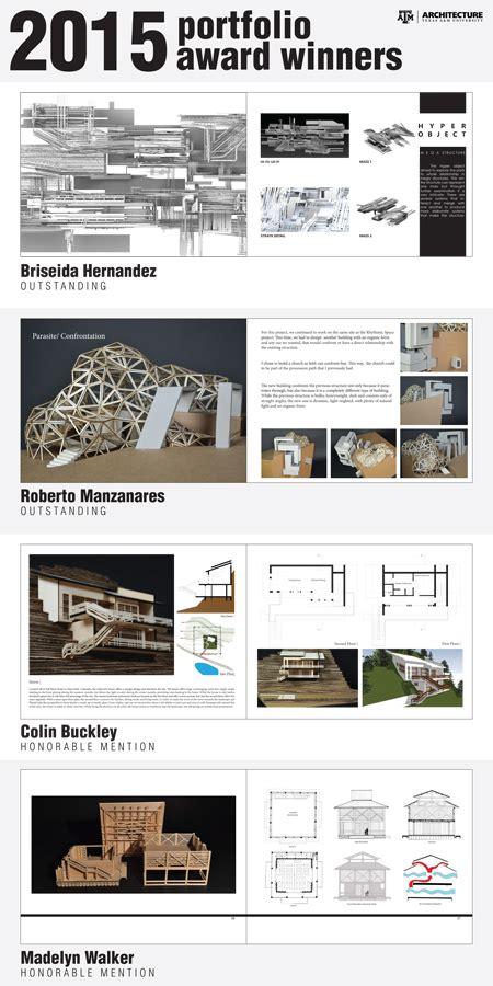 undergraduate portfolio winners college  architecture
