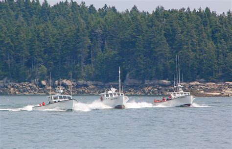 Lobster Boat Races by Lobster Boat Races Roar Through Stonington Harbor Photo