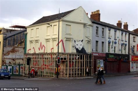 huge banksy mural worth million removed  crumbling building   artwork