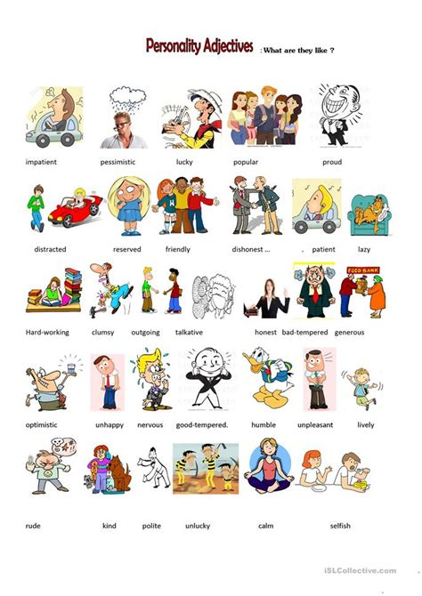 Synonyms And Antonyms (describing Character) Worksheet  Free Esl Printable Worksheets Made By