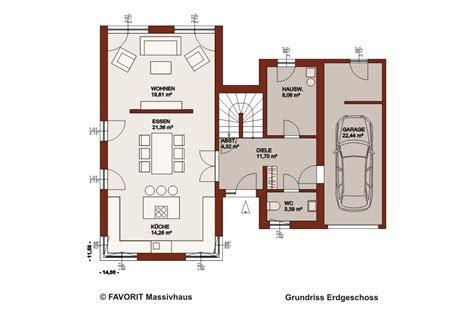 haus mit integrierter garage grundriss favorit massivhaus