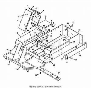 Gravely 52814 Promaster 400 22hp Diff  Lock Parts Diagram For Main Frame