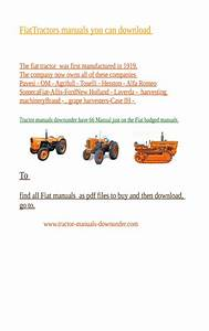 The Place To Buy  Then Download Your Fiat Tractor Manual