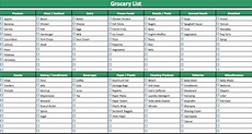 grocery shopping lists template - 28 images - doc 560602 ...