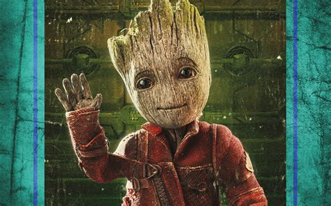 Scarica Sfondi Baby Groot, 4k, 2017 Film, Arte, Guardiani